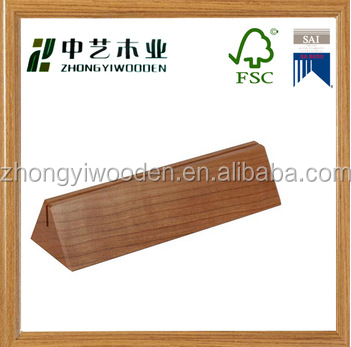 china factory FSC wood table menu stand holder restaurant wooden menu holder for sale