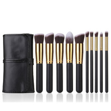 custom products 18pcs synthetic hair makeup sets beige make up brushes