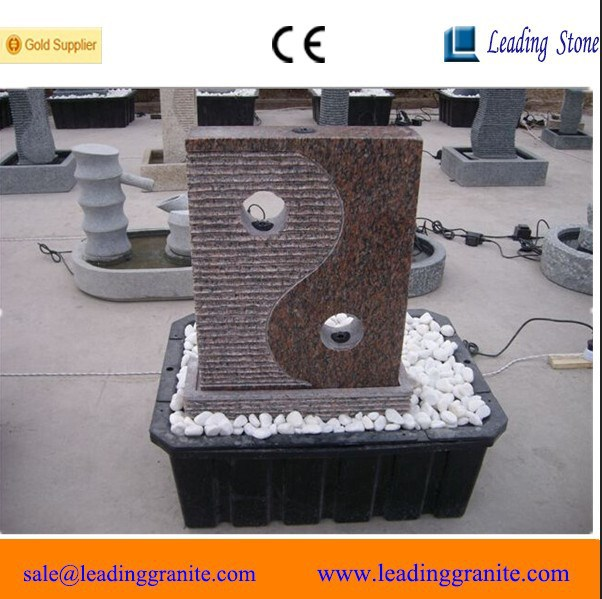 Chinese cheap decorative fortune ball / stone fountain