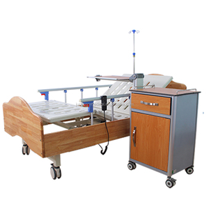 CE FAD 2018 hot sale electric hospital bed with wooden head foot board and frame