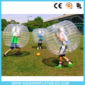 PVC TPU sports soccer bubble ball inflatable body football, inflatable ball costume, knocker ball From Singar Iflatables