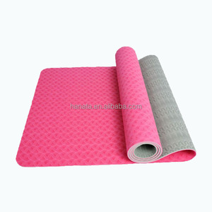 customized high quality eco durable natural rubber tpe yoga mat