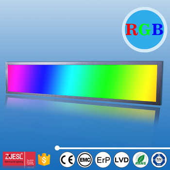 multicolor rgb led panel light 40w 1x4 100240v ac with remote controller
