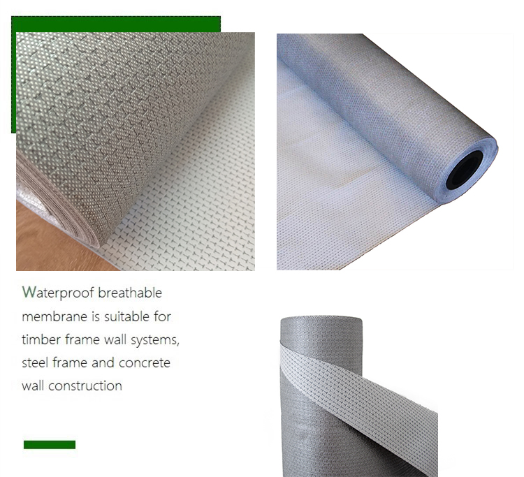 0.30mm high quality flexible water and wind sealing air permeable waterproof breathable membrane for building envelope system