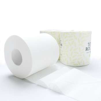 Wholesale water soluble non-polluting degradable eco friendly bathroom hemp bamboo toilet paper with roll