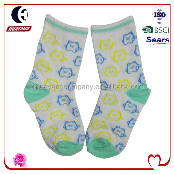 Products type boys cotton blend socks with pig designs style #HYNS-036