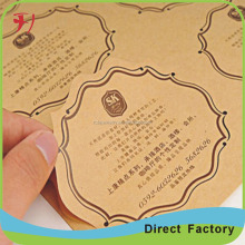 Kraft paper Top ranking custom full color honey label, self adhesive honey sticker label food packaging