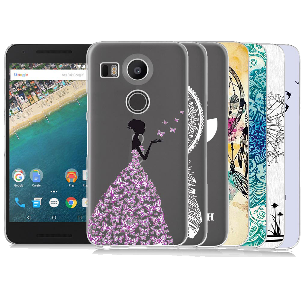For Google Nexus 5X Case Ultra Thin Slim Clear Soft TPU Silicone Cover Case For LG Nexus 5X
