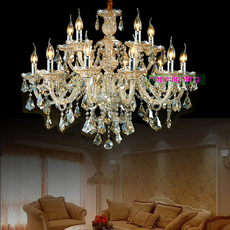 Glass Chandeliers For Dining Room: Chandeliers Large Chandelier Lighting Top K9 Crystal