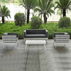 Doreen elegent Villa outdoor friends gathering hotel white metal garden yard lounge furniture used patio sofa furniture