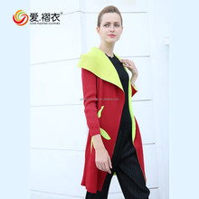 2017 oversize pleated clothes new fashion european style print design coat