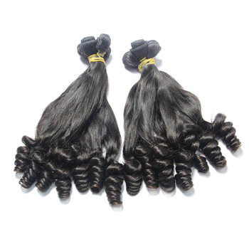 2018 New style funmi curly 100% raw unprocessed virgin peruvian hair hot selling