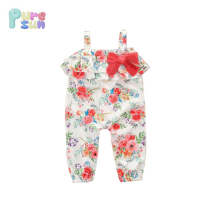 flower printed infant rompers baby clothes newborn jumpsuit