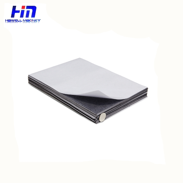 single sided adhesive backing magnetic sheet rubber magnet