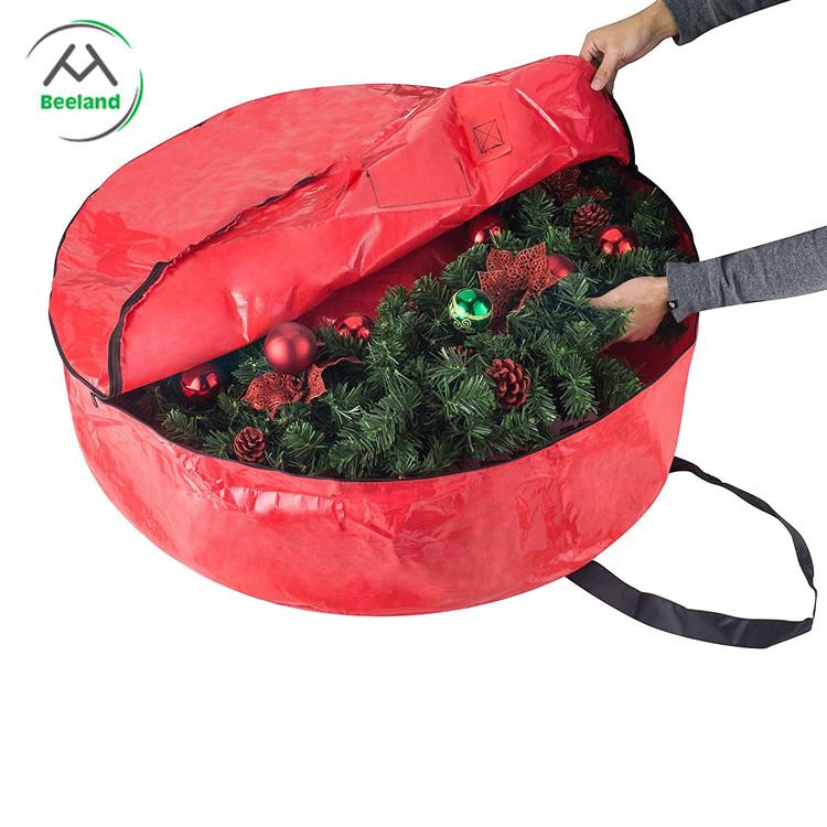 Christmas round tote wreath storage bag