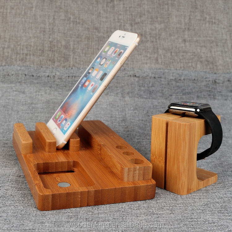 Woodwork Gift Creative Mobile Phone Support Rack Desk Wooden Phone Holder
