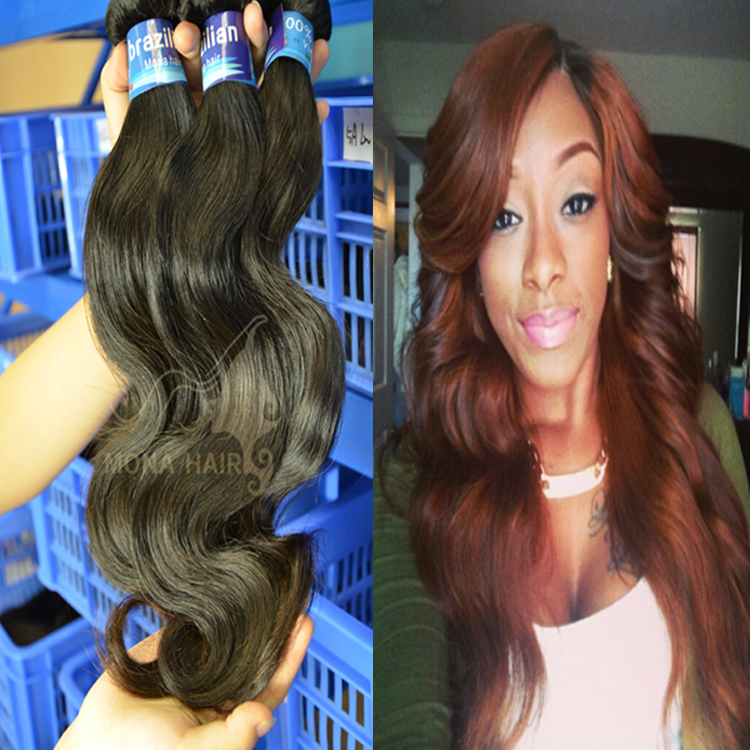 thick bundles last long time can be bleached cheap virgin brazilian body wave hair