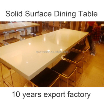 Mcdonald's Dining Table Acrylic Solid Surface Table Top With Customized  Base And Legs - Buy Solid Surface Table Top,Korean Solid Surface Table