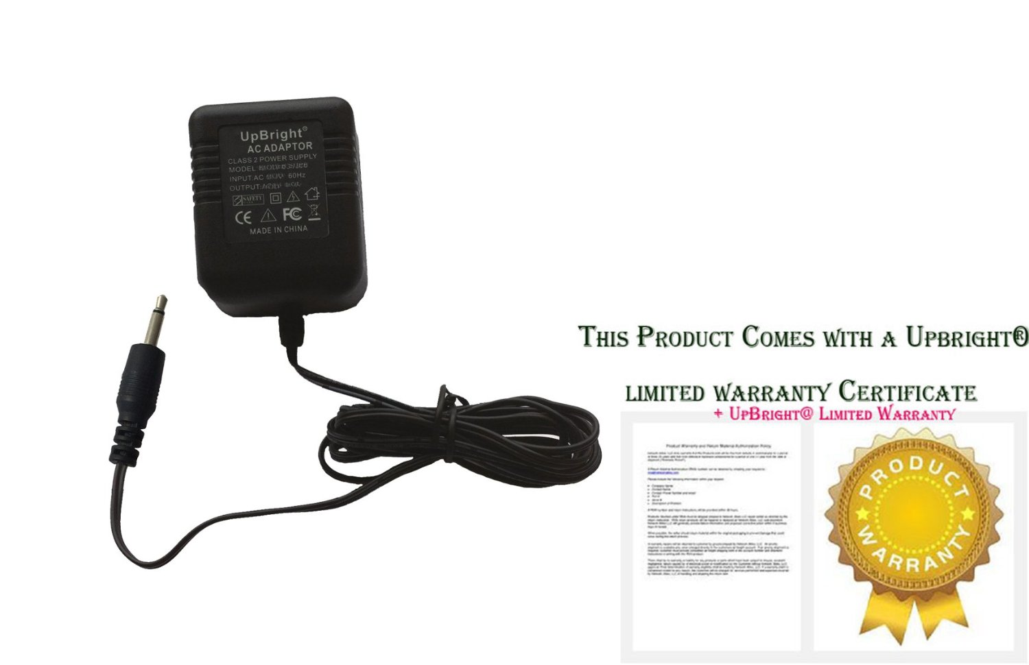 UpBright New 9V AC / AC Adapter For Alesis Micron SR-16 HR-16 D4 DM5 HR16 SR16 D 4 DM 4 DM 5 Drum Machine Mono Plug 9VAC Power Supply Cord Cable Charger Mains PSU (wit ear phone Mono Plug Type Tip adapter as the image. NOT barrel tip.)