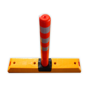 Road Reflective Traffic Lane 45cm PU Flexible Post
