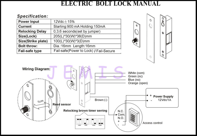bolt on lock wire diagrams 7 2 kenmo lp de \u20225 wires electronic lock for refrigerator electric bolt lock fail rh alibaba com aircraft lock wire bolts 7 16 lock wire bolts