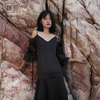705ffa93a7 Amazon hot sale new design black color women dress clothing fashion  backless bandage maxi dresses ladies