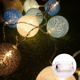 Indoor Outdoor Wedding Christmas Decoration Multicolor LED Cotton Ball LED Light String