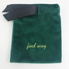 2019 Wholesale Velvet Pouch With hot stamping Gold logo Flannel Bag Custom