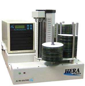 Hera 3 Automated Standalone 3-drive CD/DVD Duplicator w/ removable tower, 500GB internal HDD, PC-Link software & 330 disc input/output capacity