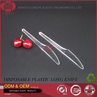 Healthy pp material plastic disposable tableware from transparent cake knife