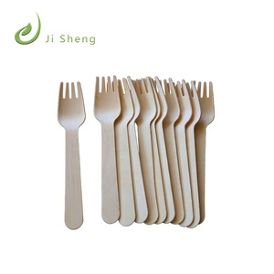 Compostable Biodegradable ecofriedly disposable wooden knife fork spoon set