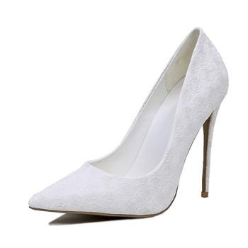 776dafcce1e Beautiful Elegant High Heel Sexy Women White Wedding Bridal Shoes ...