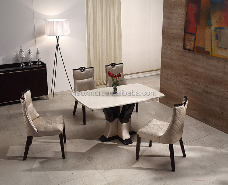 New Model Marble Wooden Dining Table Made In China