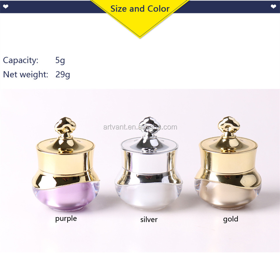 Hot Sale 5g Empty Cosmetic Container Cream Bottle Colorful Travel Shampoo Bottle Refillable Bottles