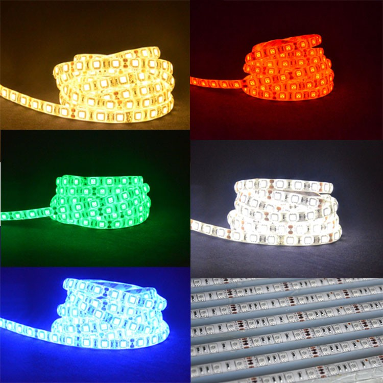 Quad Row High Power Led Flexible Light Strip Battery Operated Led ...