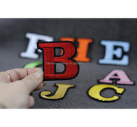 Custom Alphabet Embroidery Patches Larger Letter B Iron-on Embroidered Patch