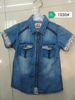 0cb14cefb93 Summer baby Jeans Blouses boys kids short sleeve denim jacket children  shirts Cool style