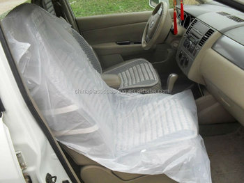 Plastic Seat Covers >> Blow Molding Type Disposable Plastic Car Seat Cover 134 84cm