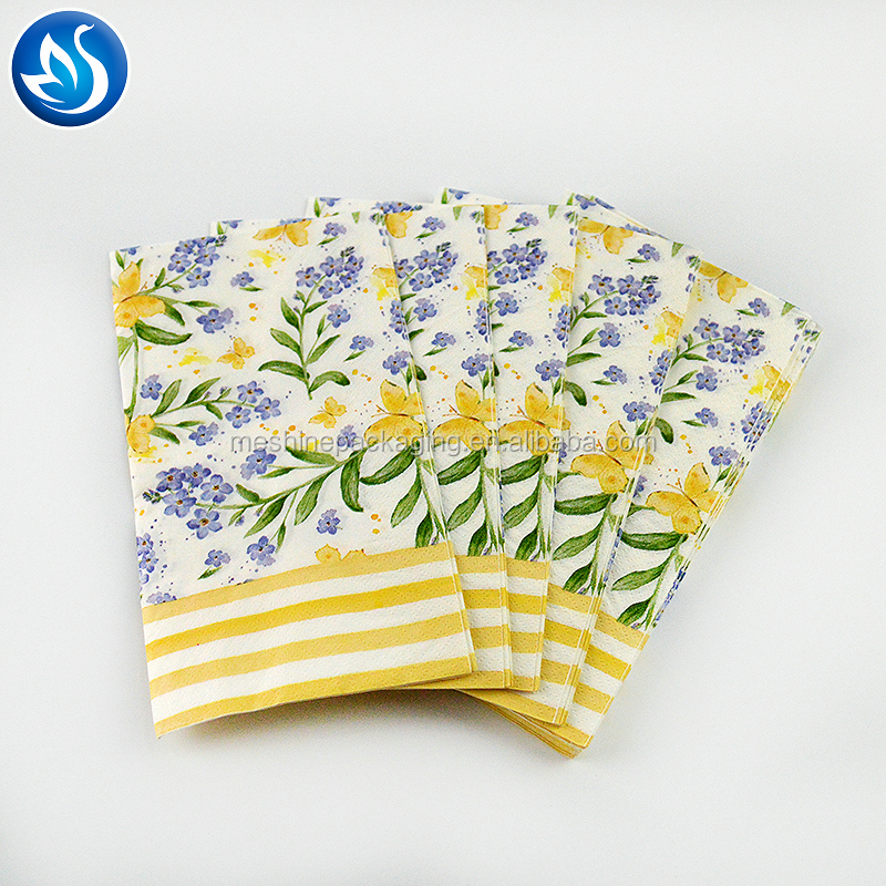 Printed paper napkin inserted for western food