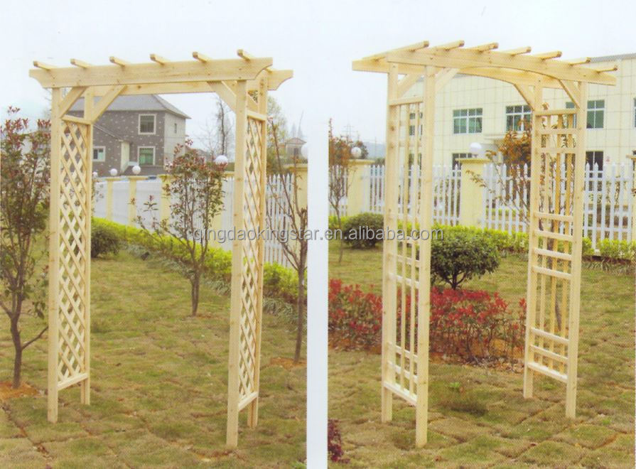 Solid Wood Outdoor Wooden Garden Arch Buy Wooden Garden Arch