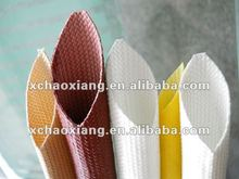 Fiberglass sleeving coated with silicone rubber