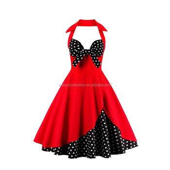Stile Del Marilyn Vintage Halter Dress Monroe Tea Rockabilly Retro Ad Delle Signore xI5OgwRq6x