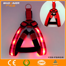 2016 lovely soft weighted led dog body harness for pet