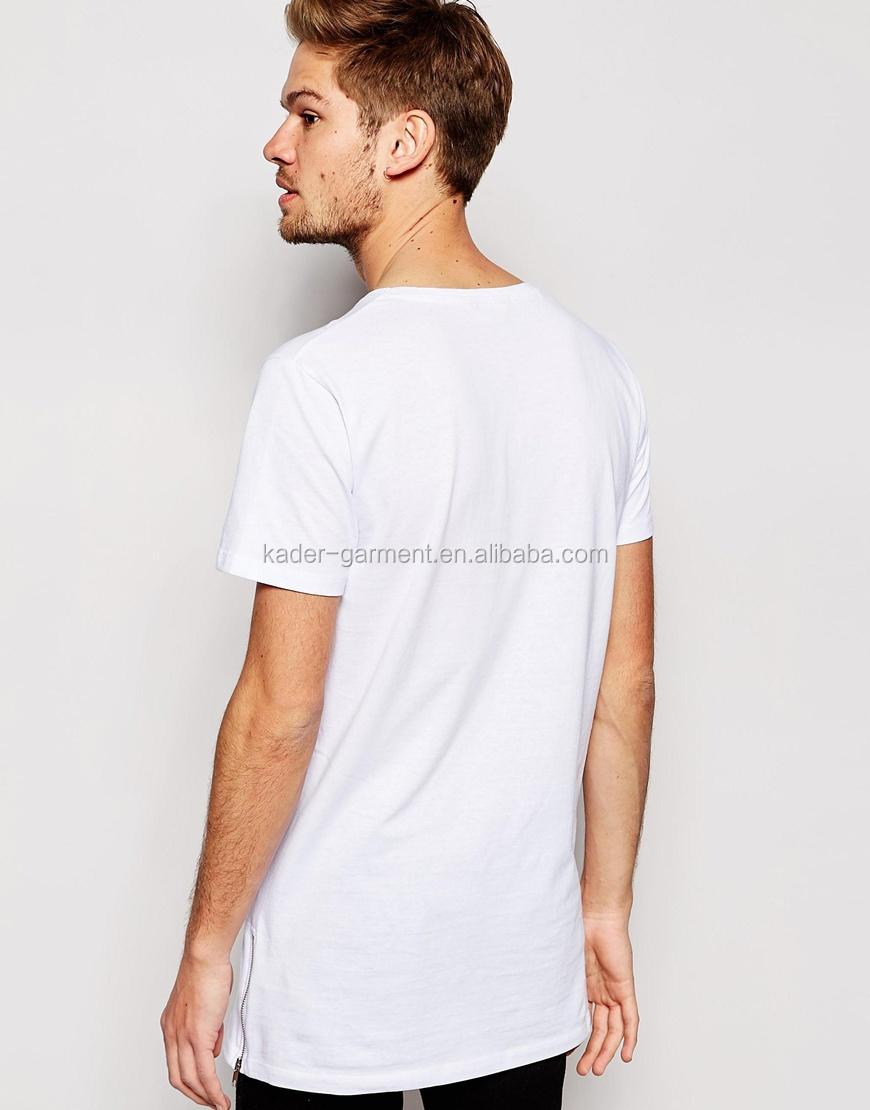 92% Polyester 8% Spandex Mens T Shirt,Men Long Line T Shirt Blank ...