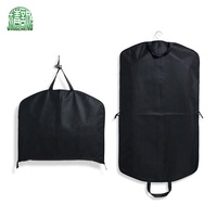 Custom Non Woven Travel Coat Cover Garment Suit Bag For Suits