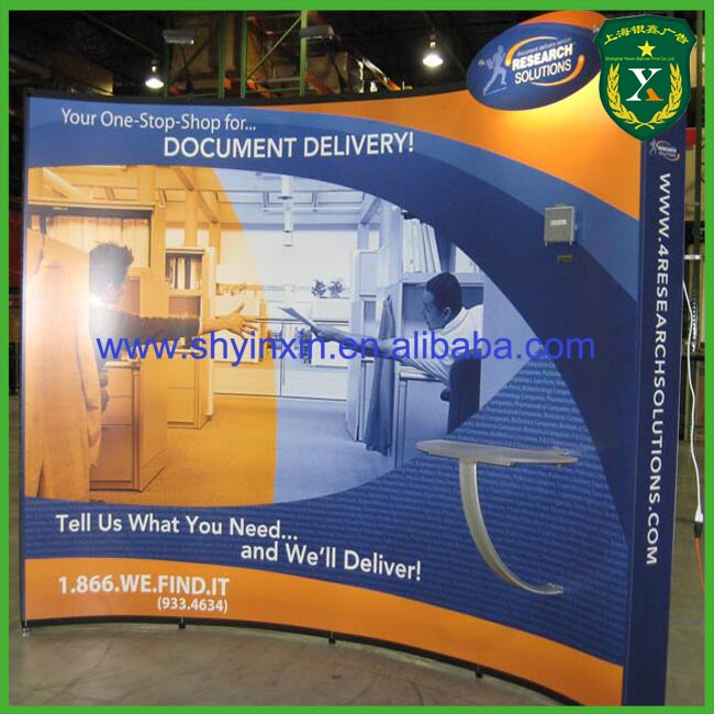 Custom Printing pop up display promotion display stands print straight fabric stands