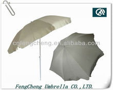 Solid color clear white market portable patio sun umbrella