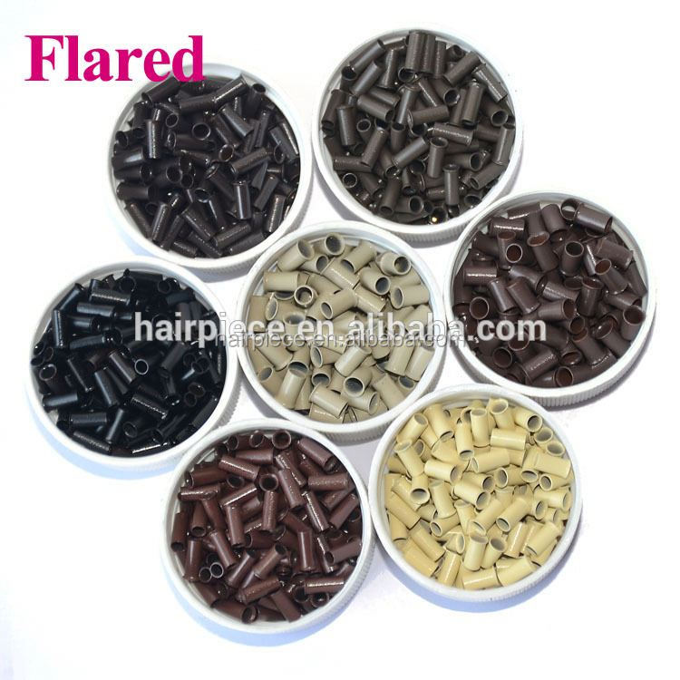Hair Extension Accesoires,Flaring Copper Tube For Hair Salon,Flared Copper Micro Beads