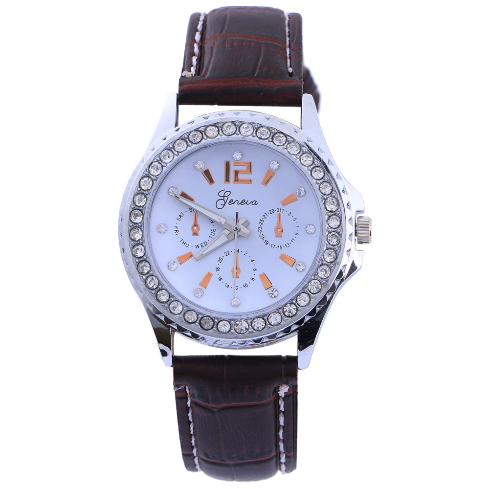 2015 GENEVA Fashion Watches Hot Sales Watches Women Dresses Watch Leather Watches Free Shipping GENEVA182