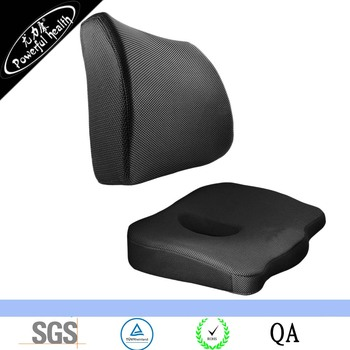 Coccyx Lumbar Seat Cushion Combo 2 Pack Cushions Soft And Supportive Foam For Lower Back